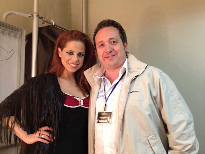 Manuel J. Villegas con Pastora Soler