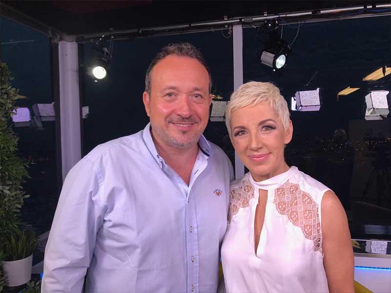 Manuel J. Villegas con Ana Torroja