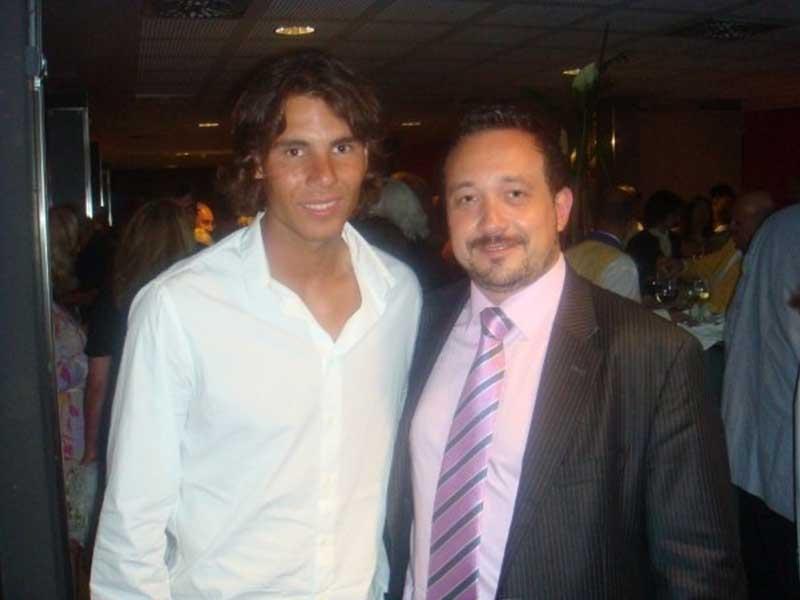 Manuel J. Villegas con Rafa Nadal