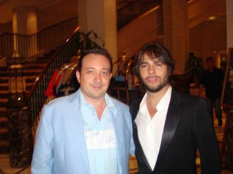 Manuel J. Villegas con Joaquín Cortés